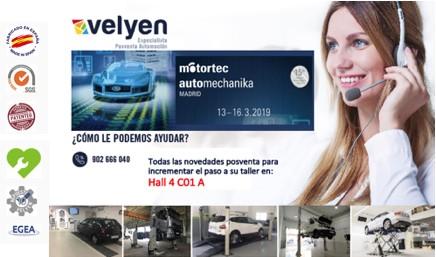 Velyen Motortec Automechanika Madrid 2018